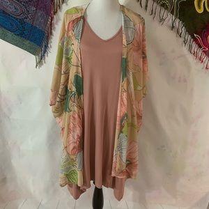 🆕 Gorgeous Blush Floral Dress Set - Size XL